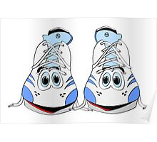 Tennis Shoe Cartoon Poster