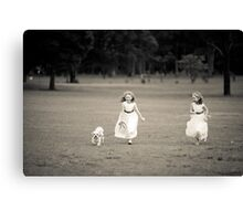 Who's Walking Who? Canvas Print