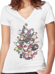 Moogle Fantasy Women's Fitted V-Neck T-Shirt