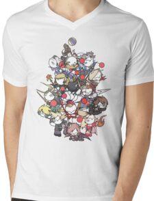 Moogle Fantasy Mens V-Neck T-Shirt