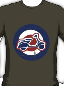 Aged Mod Target and scooter logo T-Shirt