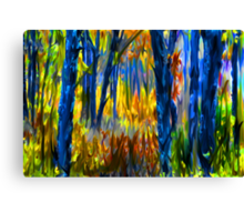 The Finger Painted Forest Canvas Print