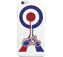 Retro look scooter mod target design iPhone Case/Skin