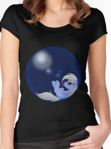 Derp Bubble Women's Fitted Scoop T-Shirt