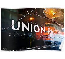 Union Pacific Black Poster