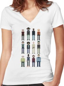 Pixel Outpost 31 Crew Women's Fitted V-Neck T-Shirt