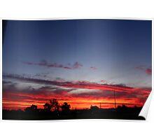 Blazing sunset Poster
