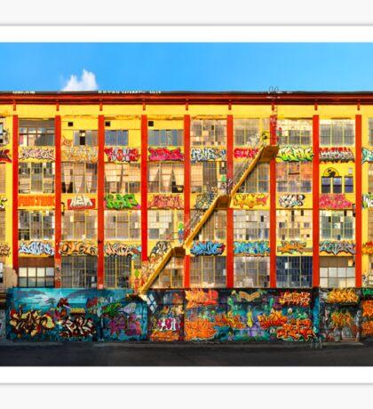 Five Pointz Graffiti Building: Queens, NYC Sticker