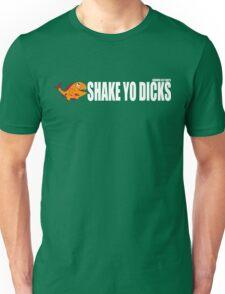Shake Yo Dicks - Fishy - White Unisex T-Shirt