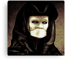 Spooky mask of Venetian tradition Canvas Print