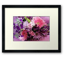 A Passion for Pink and Purple Framed Print