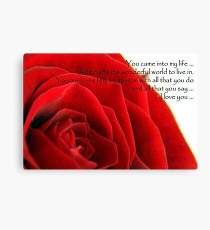 Valentines Rose Canvas Print