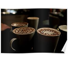 Morning Coffees Poster