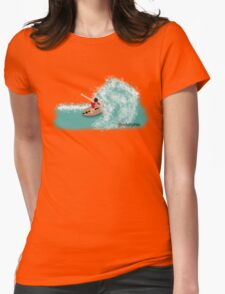 Skimboarder Womens Fitted T-Shirt