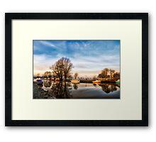 Misty Start, Beccles, Suffolk Framed Print