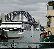 Boats on Sydney Harbour by STHogan