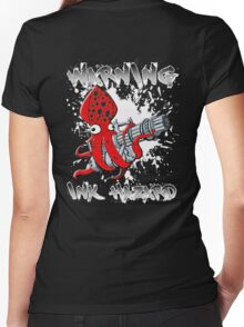 Squid Hunters Ink Hazard Women's Fitted V-Neck T-Shirt