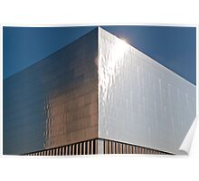 Metal clad building at Zurich's waste incineration power plant Poster