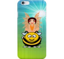 Golden Fairy and Her Pet Bee iPhone Case iPhone Case/Skin