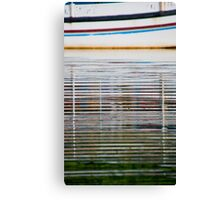 Reflections of a boat in the water in Bali, Indonesia-vertical Canvas Print