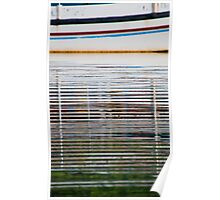 Reflections of a boat in the water in Bali, Indonesia-vertical Poster