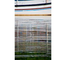 Reflections of a boat in the water in Bali, Indonesia-vertical Photographic Print