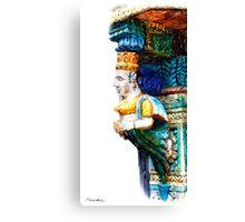 Antique Carved Column Canvas Print