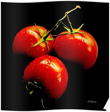 Fresh, ripe tomatoes! by Rosemary Sobiera