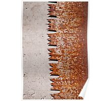 Rusty old saw blade on concrete in the Valle Onsernone in Ticino, Switzerland Poster