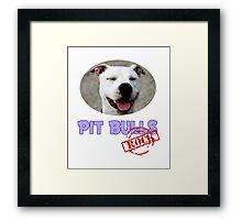 Pit Bulls Rock Framed Print