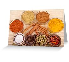 Spices and herbs Greeting Card