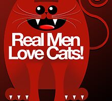 REAL MEN LOVE CATS by peter chebatte