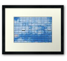 Clouds reflected Framed Print