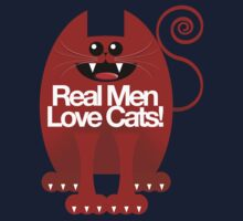 REAL MEN LOVE CATS One Piece - Short Sleeve