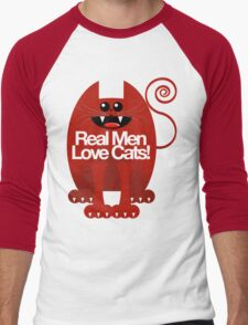 REAL MEN LOVE CATS Men's Baseball ¾ T-Shirt