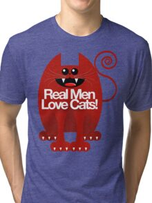 REAL MEN LOVE CATS Tri-blend T-Shirt