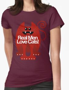 REAL MEN LOVE CATS Womens Fitted T-Shirt