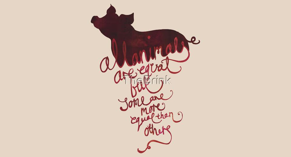 Typography: All Animals are Equal by thebrink