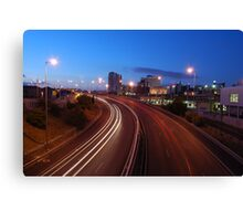 Freeway traffic on the city Canvas Print
