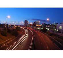 Freeway traffic on the city Photographic Print