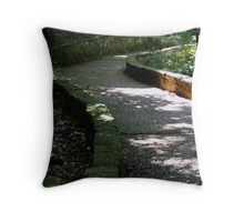 Path to Blanchard Springs Cavern Waterfall Throw Pillow