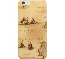 Antique Ocean Map iPhone Case/Skin
