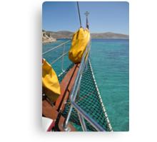 Boat cruising Metal Print