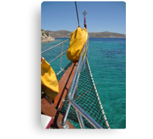 Boat cruising Canvas Print