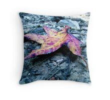 A Moody Little Leaf Throw Pillow
