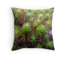 Moss Macro Throw Pillow