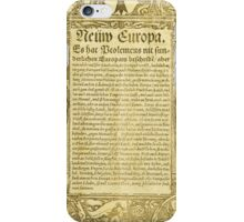 Early printed letters iPhone Case/Skin