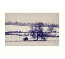 Field of Snow Art Print