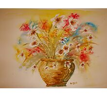 """""""Fireworks Display"""" in Watercolour Photographic Print"""