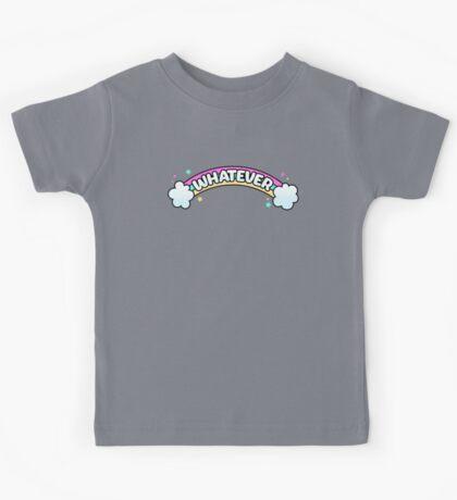 Whatever // Sarcastic Rainbow Pastel Goth Kids Tee